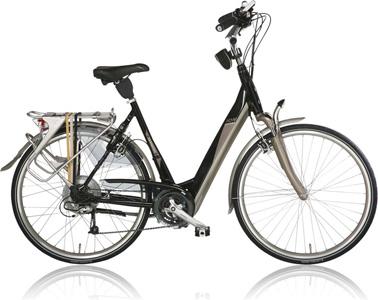 elektrische fiets met achterwielaandrijving